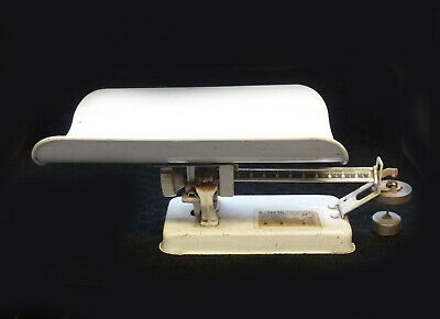 Vtg Detecto Hospital Baby Scale Balance Beam Type Brooklyn NY Medical Equipment