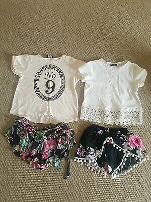 4x Girls Summer clothes by rip curl and bardot. Size 7. GUC