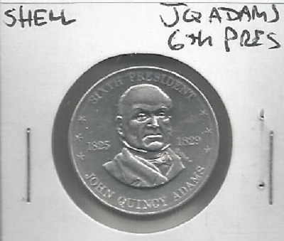 Shell's Coin Game Token Mr. President John Q Adams 6th 1968