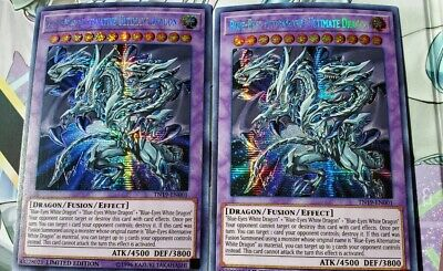 2X Blue-Eyes Alternative Ultimate Dragon - TN19-EN001 - Prismatic Secret Rare -