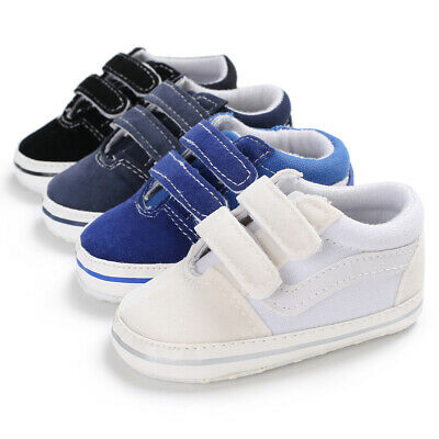 UK Toddler Baby Boys Pre-Walker Anti-slip Soft Shoes Canvas Sneakers Trainers