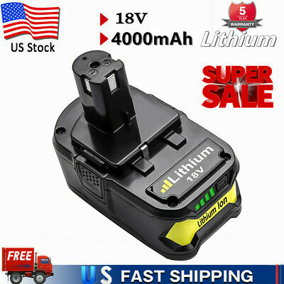 18V 4.0Ah P104 For Ryobi P108 One Plus Lithium High Capacity Battery P107 P102 A
