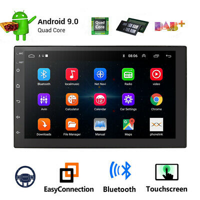 "Android 9.1 Car Stereo GPS Navigation Radio Player Double Din WIFI 7"" NEW 2019"
