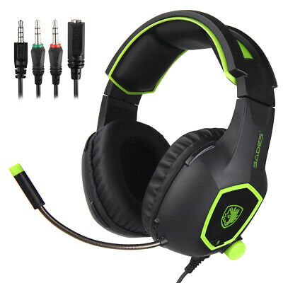 SADES 3.5mm Wired Gaming Headphones Over Ear Game Headset with Microphone Q1L4