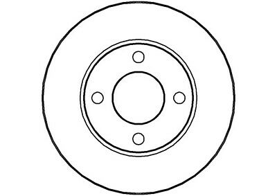 AUDI COUPE 1.8 2x Brake Discs (Pair) Vented Front 89 to 91 DZ 256mm Set NAP New