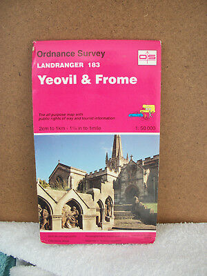 old Ordnance survey map. Landranger 183 Yeovil & Frome