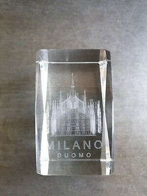 Reproduction du dôme de Milan en cristal