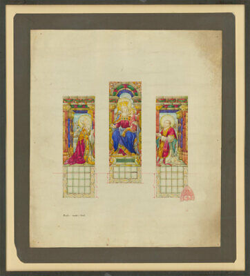 John Hardman & Co - Early 20th Century Watercolour, Stained Glass Window Design