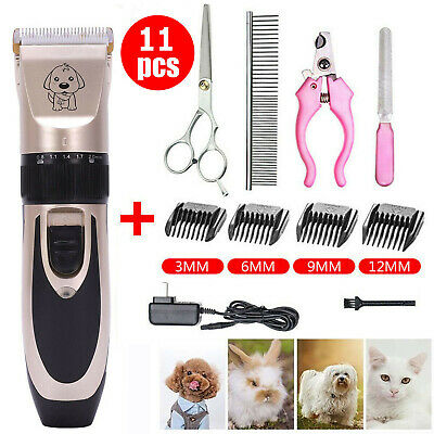 Electric Grooming Clippers Pet Hair Nail Shaver Trimmer Groomer Set Dog Cat Set
