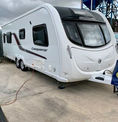2014 Swift Conqueror 645 Island bed end washroomcTwin axle Immaculate condition
