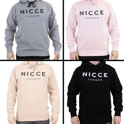 Mens Nicce London Original Logo Overhead Hooded Top - 4 Colours (DD) RRP £49.99