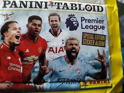 Panini Tabloid Premier League Stickers 1 Packet Unopened