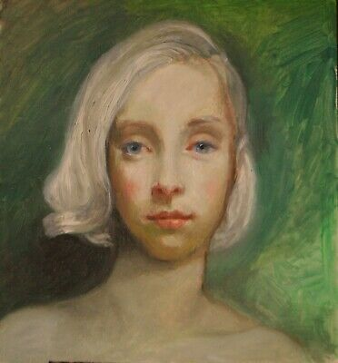 Original Oil Painting   Girl With Blond Hair