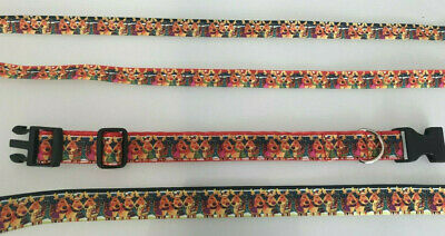 REINDEER INSPIRED HANDMADE DOG COLLAR / LEAD - 25mm OR 16mm  - CHRISTMAS RUDOLPH