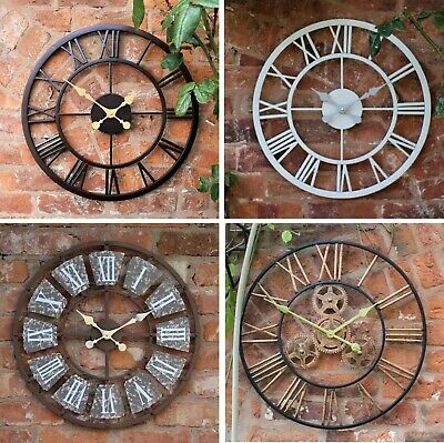 Garden Ornament Wall Clock Open Face Station Church Tower Clock Indoor Outdoor