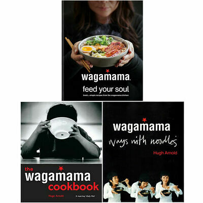 Wagamama Cookbook, Feed Your Soul, Ways With Noodles 3 Books Collection Set NEW