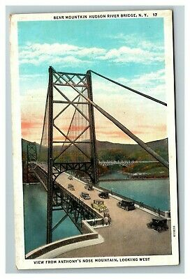 Bear Mountain Hudson River Bridge NY c1930 Postcard G14