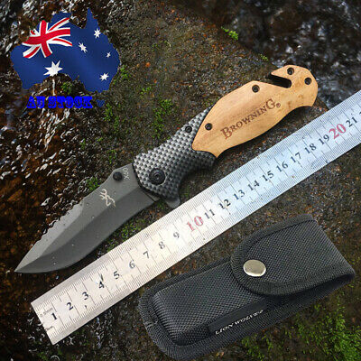 095# Browning Folding Knife X50 Opening Pocket Knife Camping Hunting Survival AU