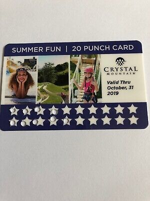 Crystal Mountain! Punch Card, Pool Passes, Alpine Slide Tickets - A $140+ Value