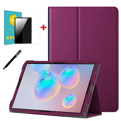 For Samsung Galaxy Tab S6 10.5'' 2019 SM-T860 Slim Cover Case+Tempered Glass+Pen