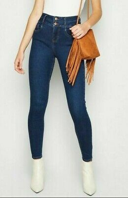 HIGH WAISTED SKINNY JEANS NEW LOOK JEGGINGS WOMENS TROUSERS STRETCHY PANTS 6to18