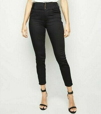 High Waisted Jeans Jeggings Skinny Slim Women Stretchy Corset Pants New Look