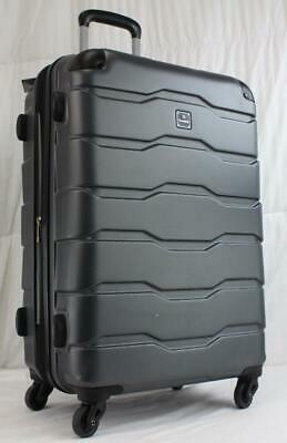 """Tag Matrix 2.0 24"""" Lightweight Hard Shell Spinner Suitcase Gray Used"""
