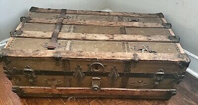 Victorian Steamer Trunk with Key Westcott Express