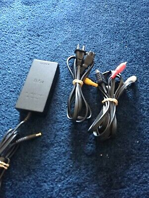 Original Sony Playstation 2 PS2 Slim Power Supply Cord and AV composite Cable