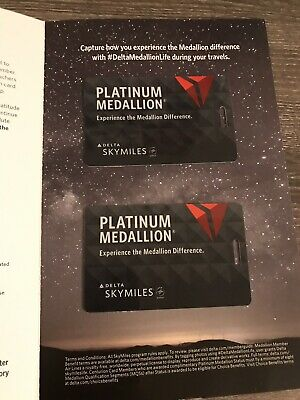 NEW Delta 2019 Platinum Medallion Luggage Tags Set Of 2