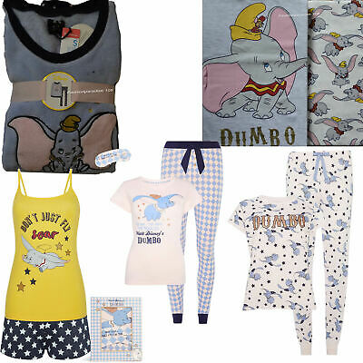 Disney DUMBO the Elephant Pyjamas Ladies Cami Pajamas Women's Girls PJ's Primark