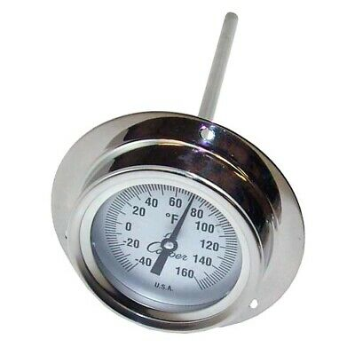 "2"" Recessed Dial Thermometer With 6"" Stem Probe"