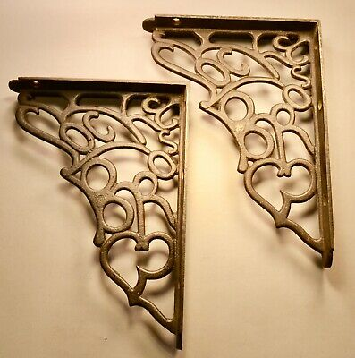Architectural  Advertising SOCK BROS Cast Iron Wall Shelf Brackets