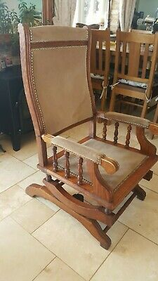 Antique Old American Rocker Vintage Farmhouse Rocking Chair Collection NG23