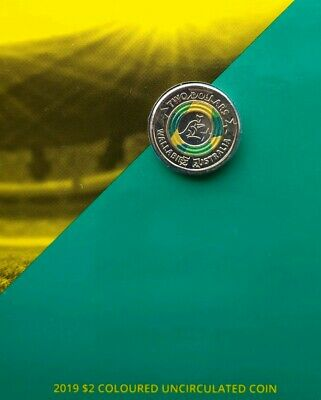 $2 2019 Wallabies Rugby World Cup Two Dollar Unc Coin & Folder  - New Release-