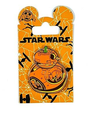 Disney Parks Star Wars BB-8 Droid Halloween Pumpkin Pin New