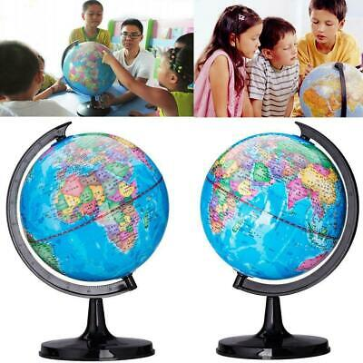 360° Rotating Mini Globes Earth Map Globe World Geography Desk Decorat Home Y2G8