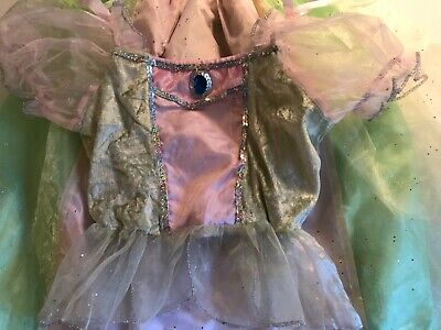 Girls Princess 2 Piece Top and Skirt Green Pink Costume Size S