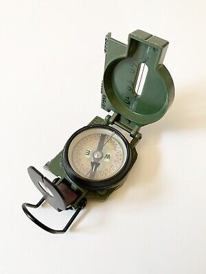 Military Tritium Lensatic Compass Model 3H Cammenga Olive Drab U S Army Issue