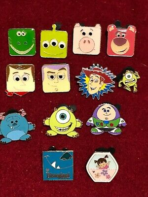 13 Disney pins Toy Stry & Monsters Inc. As Seen Lot x