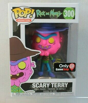Funko Pop Gamestop Exclusive SCARY TERRY Vinyl Figure 300 Rick Morty Television