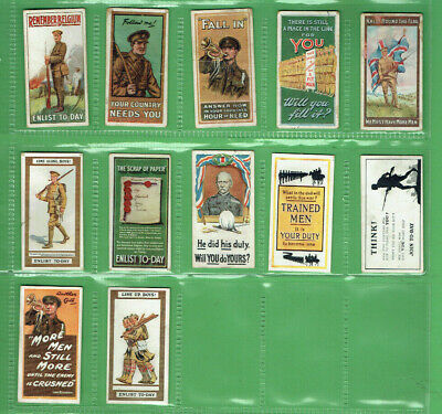 #Gg1.   Set(12)  1915  Recruiting Posters  Wills  Cigarette Cards