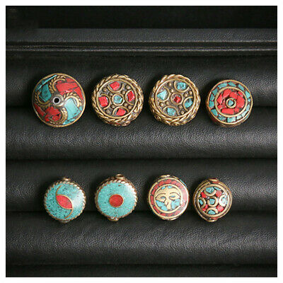 1Pcs Nepal Copper Loose Beads Handmade Jewelry Making Spacer Hole Round Strand