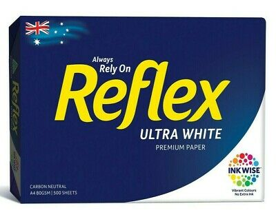 Reflex A4 Ultra White Premium Copy Paper 80gsm 500 Pages Sheets - 1 Ream