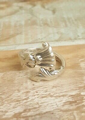 Vintage Wallace Sterling Silver Spoon Ring Size 7