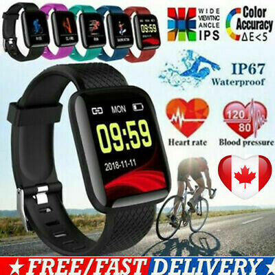 116PLUS Bluetooth Smart Watch Heart Rate Oxygen Blood Pressure Fitness Tracker