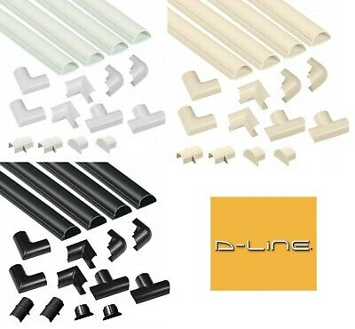D-LINE 30x15 TRUNKING KIT SELF ADHESIVE TV CABLE HIDE WIRE TIDY COVER PVC DLINE