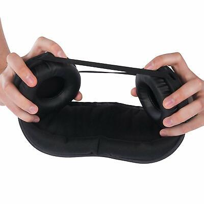 Black Hibermate Sleep Mask (with Ear Muffs) for Noise and Light Reduction