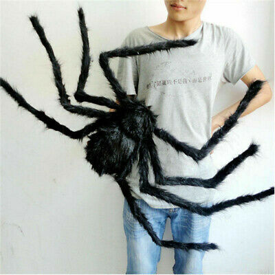 5FT/150cm Hairy Giant Spider Decoration Halloween Prop Haunted House Party USA