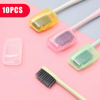 10PCS Portable Travel Toothbrush Head Cover Case Cap Hike Camping Brush Cleaner